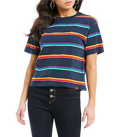 Dickies Short Sleeve Rainbow Stripe Logo Tee