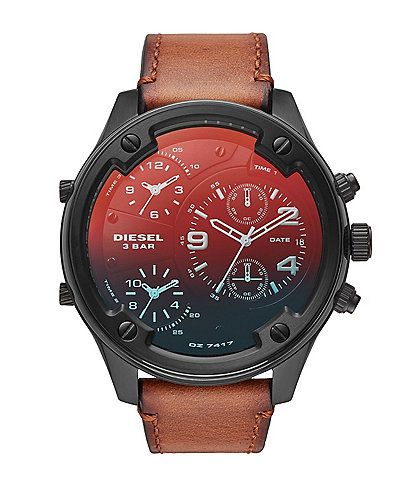 Diesel Boltdown Chronograph Brown Leather Watch