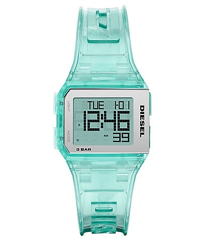 Diesel Chopped Digital Aqua Silicone Watch