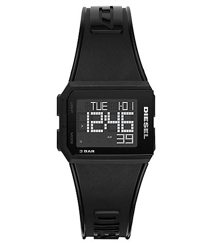Diesel Chopped Digital Black Silicone Watch