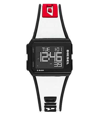 Diesel Chopped Digital White Silicone Watch