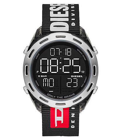Diesel Crusher Digital Black Nylon Watch
