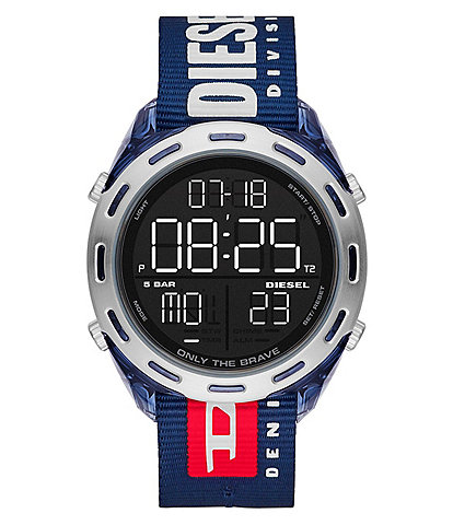 Diesel Crusher Digital Navy Nylon Watch