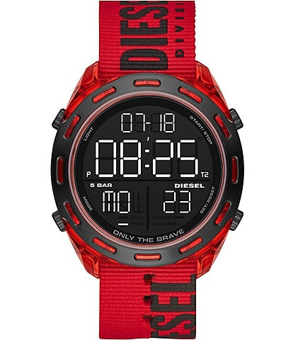 Diesel Crusher Digital Red Nylon Watch