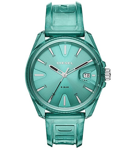 Diesel Diesel MS9 Three-Hand Green Transparent Watch