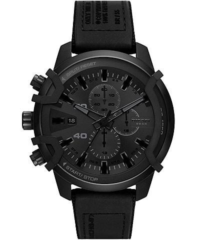 Diesel Griffed Chronograph Black Canvas Watch
