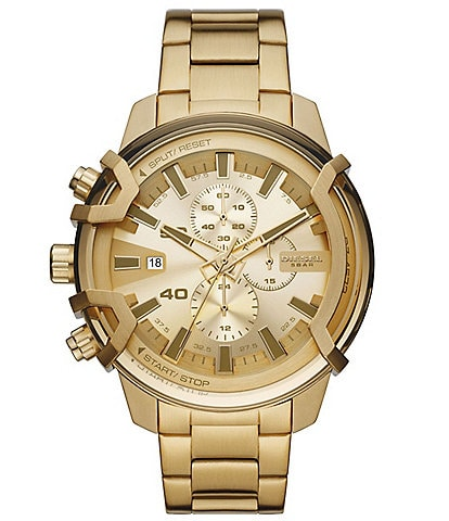 Diesel Griffed Chronograph Gold-Tone Stainless Steel Watch