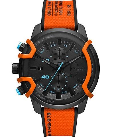 Diesel Griffed Chronograph Orange Canvas Watch
