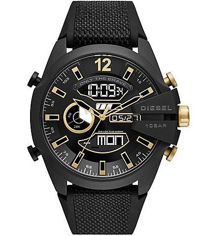 Diesel Mega Chief Analog-Digital Black Nylon and Silicone Watch