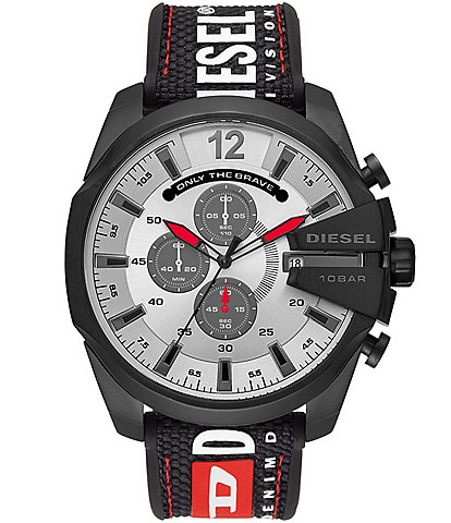 Diesel Men's Mega Chief Chronograph Black Nylon Watch