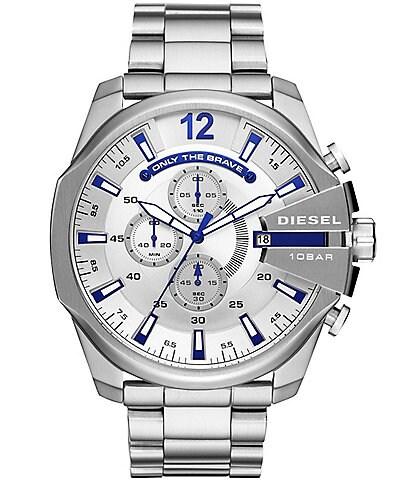 Diesel Men's Mega Chief Stainless-Steel Watch