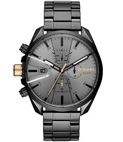 Diesel Men's MS9 Chrono Black IP Watch