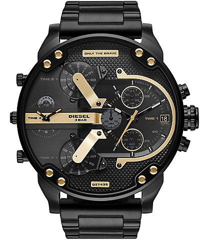 Diesel Mr Daddy 2.0 Chronograph Black Stainless Steel Watch