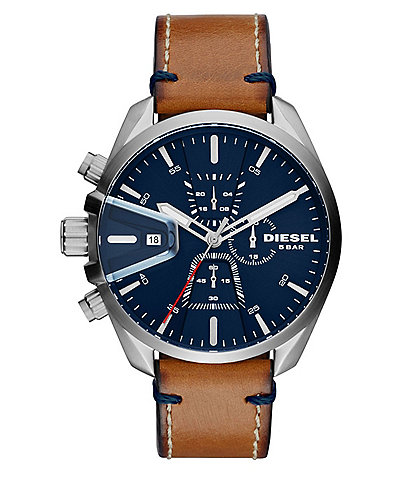 Diesel Ms9 Chrono Brown Strap Watch