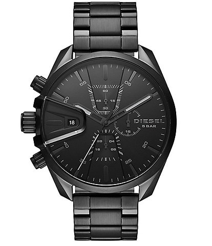 Diesel MS9 Chronograph Black Stainless Steel Watch