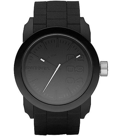 Diesel Unisex Black Silicone Strap Watch
