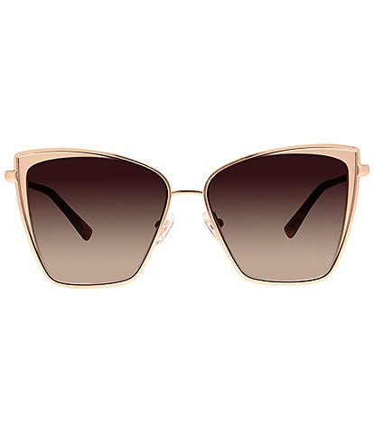 DIFF Eyewear Becky Brushed Gold Oversized Cat Eye Sunglasses