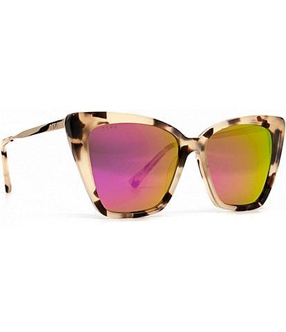 DIFF Eyewear Becky II Tortoise Polarized Cat Eye Sunglasses