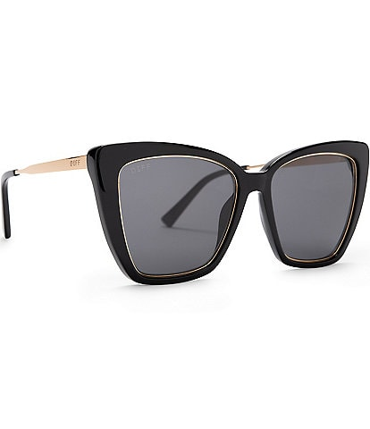DIFF Eyewear Becky IV Polarized Cat Eye Sunglasses