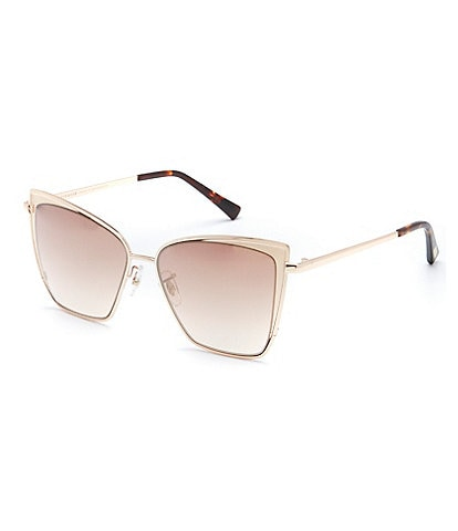 DIFF Eyewear Becky Polarized Gradient Cat Eye Sunglasses