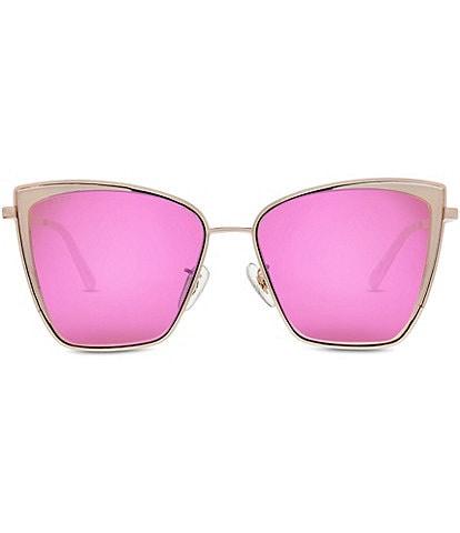 DIFF Eyewear Becky Rose Gold Pink Cat Eye Sunglasses