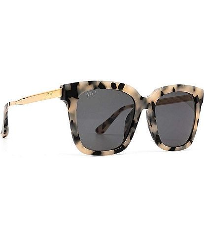 DIFF Eyewear Bella Leopard Polarized Sunglasses