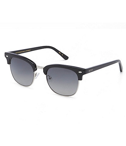 DIFF Eyewear Blair Polarized Clubmaster Sunglasses