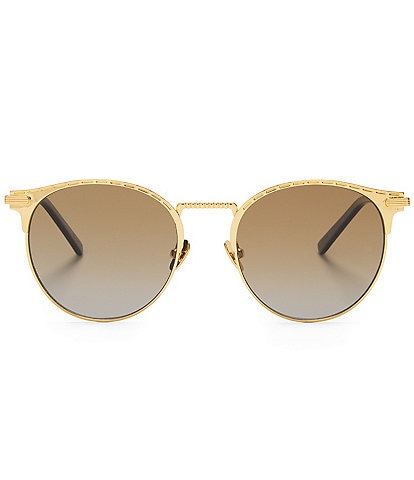 DIFF Eyewear C-3PO Polarized Round Gradient Sunglasses