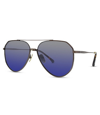 Diff Eyewear Dash Polarized Aviator Sunglasses