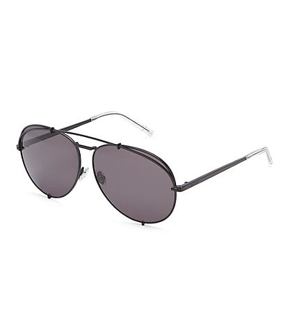 DIFF Eyewear Koko Matte Black Avaitor Sunglasses