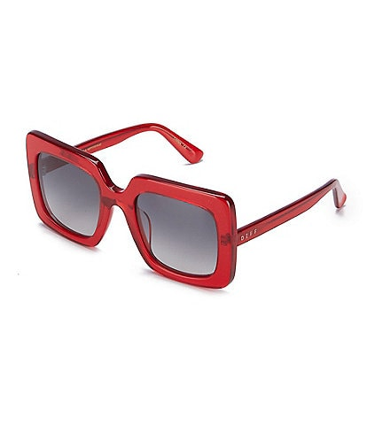 DIFF Eyewear Sasha Thick Square Oversized Sunglasses