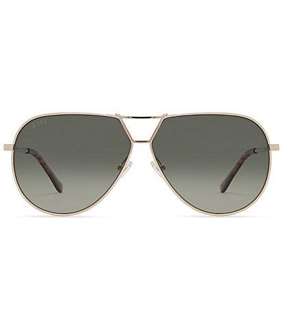 DIFF Eyewear The Devon Aviator 65mm Sunglasses