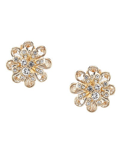 Dillard's Crystal Flower Stud Earrings
