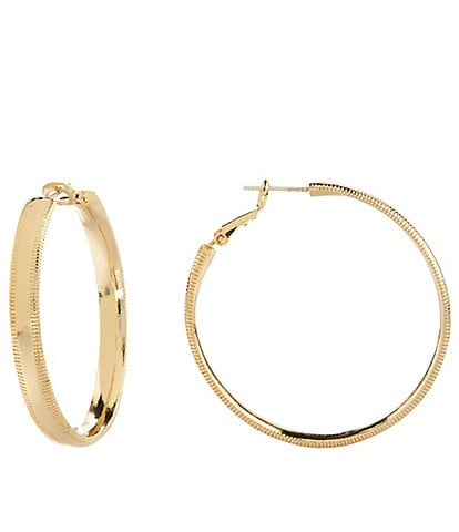 Dillard's Etched Edge Hoop Earrings