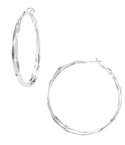 Dillard's Hammered Wire Hoop Earrings