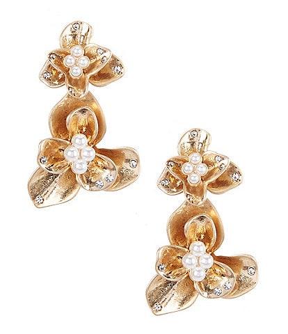 Dillard's Magnolia Flower Drop Earrings