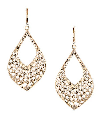 Dillard's Pave Open Work Drop Earrings