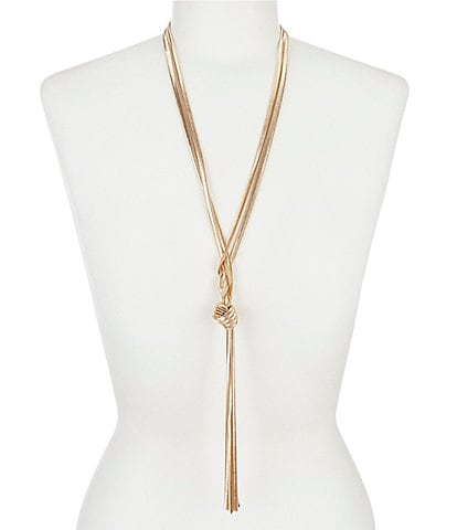 Dillard's Snake Chain Long Y Necklace