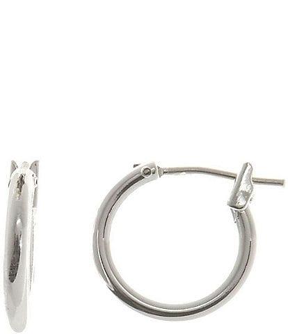 Dillard's Sterling Collection Small Hoop Earrings