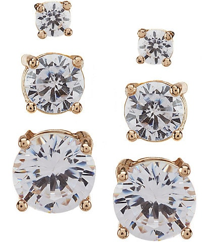 Dillard's Tailored Faux-Crystal Sensitive Earring Set
