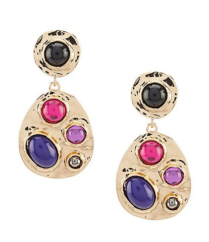 Dillard's Tailored Mosaic Teardrop Clip-On Earrings