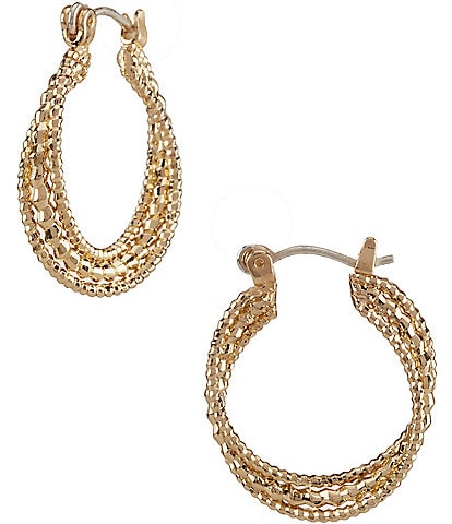 Dillard's Tailored Small Twist Hoop Earrings