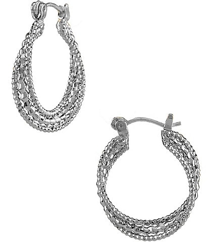 Dillard S Tailored Small Twist Hoop Earrings