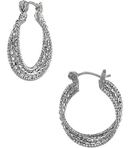 Dillard's Tailored Small Twist Hoop Earrings