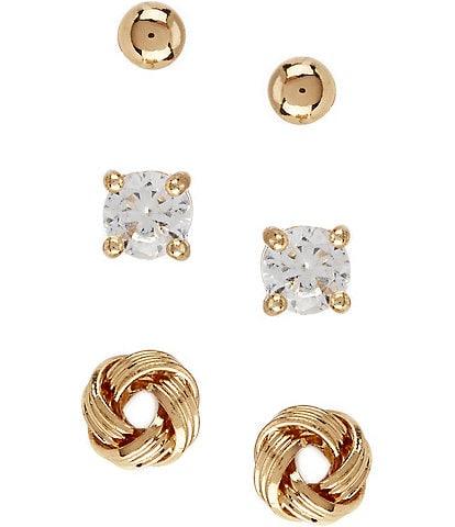 Dillard's Tailored Sterling Silver Stud Earring Set