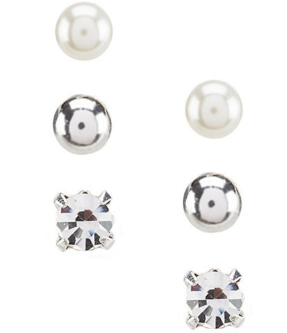 Dillard's Tailored Trio Stud Earring Set