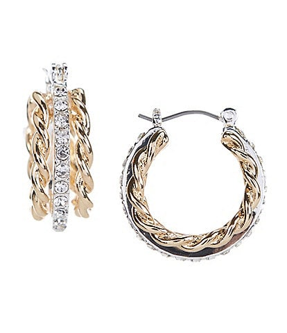 Dillard's Twisted Crystal Hoop Earrings