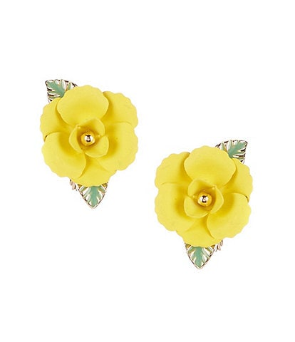 Dillard's Yellow Flower Clip-On Earrings