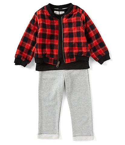 Disney x Little Brother Little Boys 2T-4T Mickey Reversible Bomber Jacket & Solid Jogger Pant Set