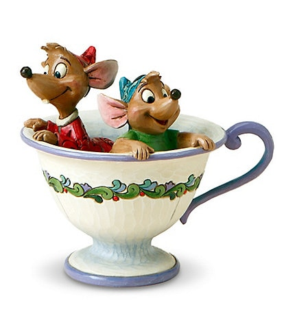 Disney Traditions by Jim Shore Jaq and Gus #double;Tea for Two#double; Figurine